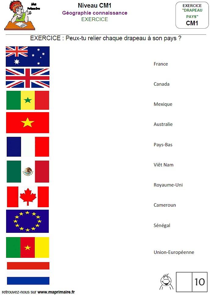 des drapeaux au cm1