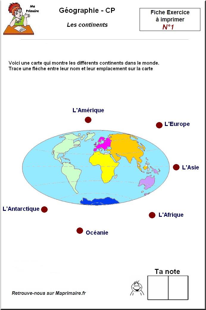 les continents au cp